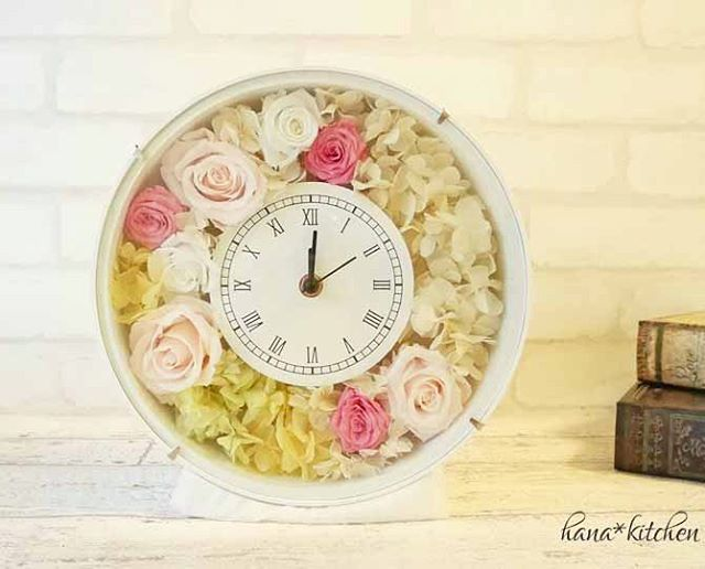 手作り花時計
